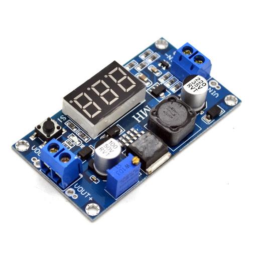 ماژول LM2577 با نمایشگر ولتاژ ورودی و خروجی